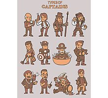 Types of captains Photographic Print