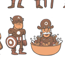 Types of captains Sticker