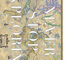 World Map - Never Stop Exploring Phone Case by haleygrace21