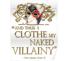 Shakespeare's Richard III Naked Villainy Quote Poster