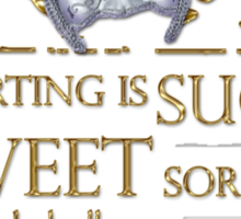 Shakespeare Romeo & Juliet Sweet Sorrow Quote Sticker