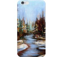 BEST SELLING CANADIAN PRINTS AND PAINTINGS WINTER LANDSCAPE TREES AND WATER BY CANADIAN ARTIST CAROLE SPANDAU iPhone Case/Skin