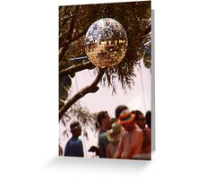 shiny disco ball in nature (card) Greeting Card