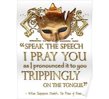 Shakespeare's Hamlet Speech Quote Poster