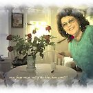 happiness is getting roses from your grandaughter just because,,, by francelle  huffman
