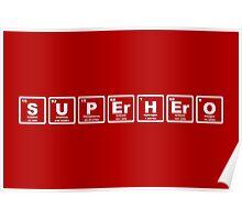 Superhero - Periodic Table Poster