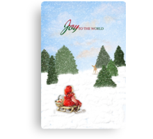 Joy to the World Christmas Card Canvas Print