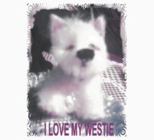 I LOVE MY WESTIE BY FRANCELLE MINIATURE PUP AS SELLS  ON EBAY by francelle  huffman