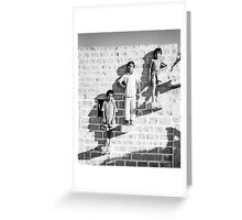 The Posing Wall Greeting Card