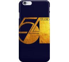 Studio 54 Golden Logo iPhone Case/Skin