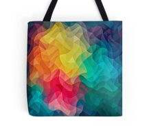 Abstract Color Wave Flash Tote Bag