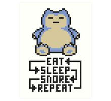 The Snorlax Song Art Print