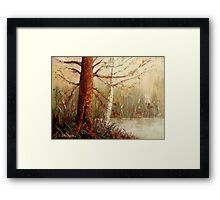 MOST POPULAR CANADIAN PAINTINGS AND PRINTS TREE AT RIVER'S EDGE CANADIAN ART Framed Print