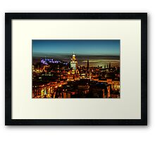 Edinburgh at night Framed Print