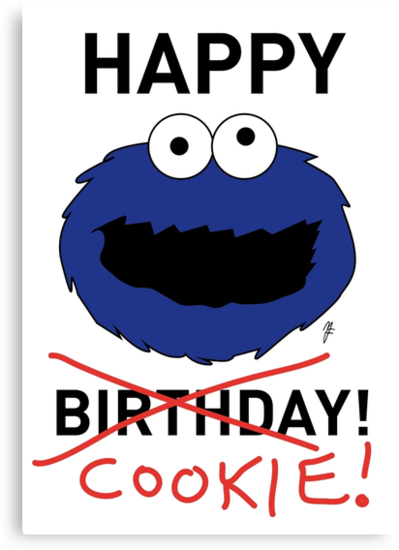 COOKIE MONSTER BIRTHDAY CARD by mjfouldes