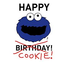 COOKIE MONSTER BIRTHDAY CARD Photographic Print