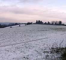 Snow Over The Countryside. by Kirsty Harper