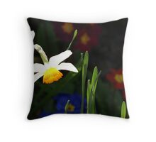Daffodil contrast Throw Pillow