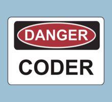 Danger Coder - Warning Sign Kids Clothes