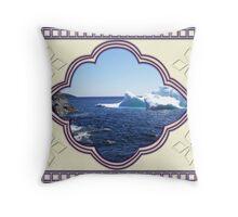 Iceberg-2...at the beach Throw Pillow