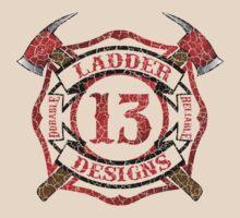 Ladder 13 - Distressed Cross by ianscott76