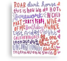 Katy colored Canvas Print