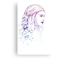 Daenerys in Colours Canvas Print