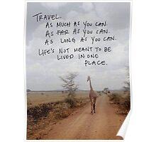 Travel. Poster