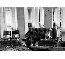 Bill and his dog Ted. Photographic Print