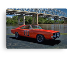 """1968 Dodge Charger RT """"General Lee"""" Replica Canvas Print"""