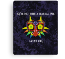 Majora's Mask Splatter (Quote) Canvas Print