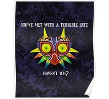Majora's Mask Splatter (Quote) Poster