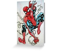 Spider-man Swinging Greeting Card