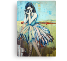 Camera Girl Canvas Print