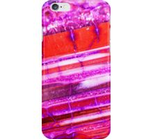 Red Purple Dragon Vein Agate Pattern iPhone Case/Skin