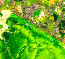 Green Sea Sediment Agate Pattern Sticker