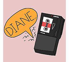 Diane - Twin Peaks Dale Cooper Quote Photographic Print