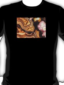 Pink Brown Turritella Agate Pattern T-Shirt