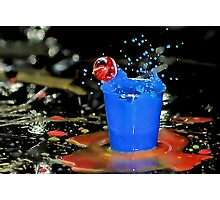 Exploding Blue With Red Bubble! Photographic Print
