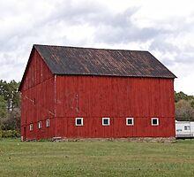 Really red barn by vigor