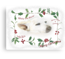 Little Tinker Has Christmas Dreams ~ Greeting Card Canvas Print