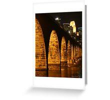 Minneapolis Stone Arch Bridge Greeting Card