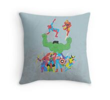 marvel superheroes Throw Pillow