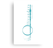 Ollivanders Logo in Blue Canvas Print