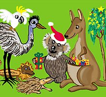 Santa Claws - Aussie Christmas Card by goanna