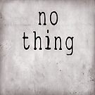 no thing by Peter Ciccariello