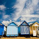 Beach huts at Southend on Sea, Essex, England by Sheila  Smart