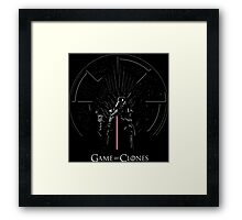 Game Of Clones Framed Print