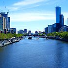 a 2004 view of Melbourne along the Yarra by Leone