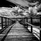 Wharf at Southend on Sea in monochrome by Sheila  Smart